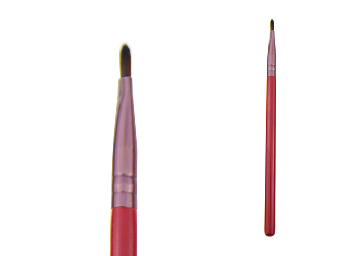 Wooden Handle Lipstick Lip Liner Brush Retractable Lip Brush With Nylon Hair