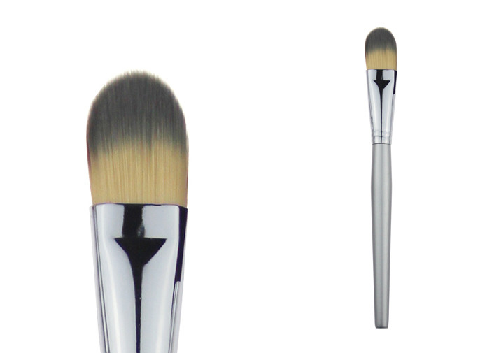 Professianal Fiber Hair Foundation Mask Brush With Copper Ferrule