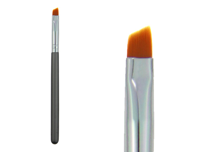 Essential Pony Hair Eye Brow Brush / Flat Top Makeup Brush For Beauty