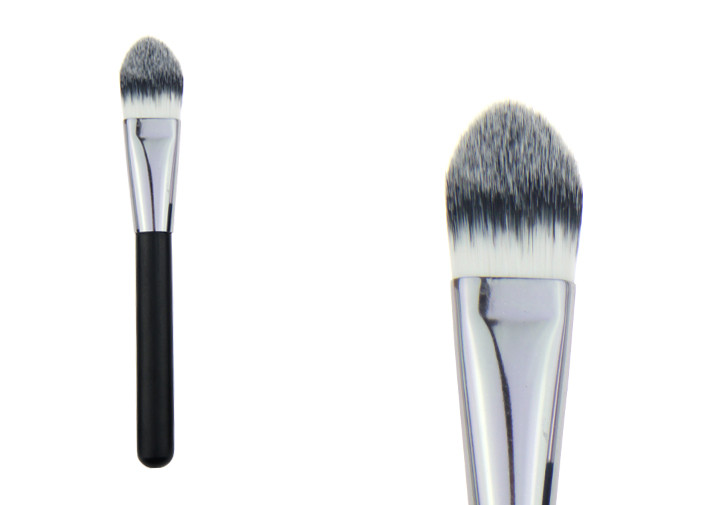 Black Mineral Powder Foundation Brush For Dry Skin , Powder Makeup Brush
