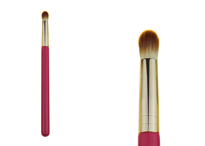 Precision Pointed Synthetic Concealer Brush Pink Makeup Brushes For Travel