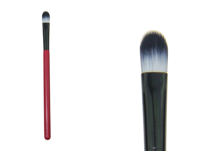 Nylon Hair Synthetic Concealer Brush , Red Professional Makeup Brush Kits